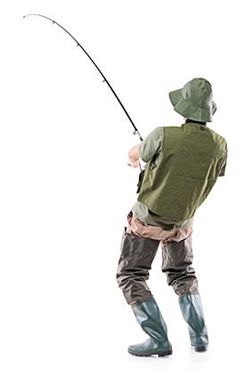 Stock photo of a fisherman.