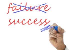 The word failure crossed out and replaced with the word success.